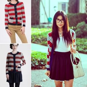 Dear Creatures Modcloth Circle Knit Cardigan